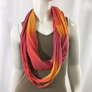 Accessories - Orange and Pink Infinity Scarf (1096)